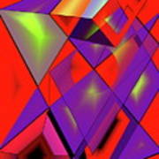 3d-cubes Art Print