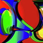 3d-curiosity Of Science Art Print