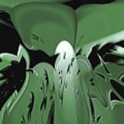 3d Green Abstract Art Print