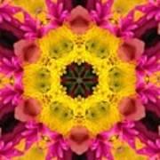 3d Pink Kaleidoscope Art Print