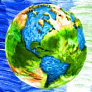 3d Render Of Planet Earth 11 Art Print