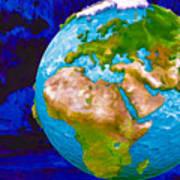 3d Render Of Planet Earth 6 Art Print