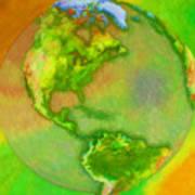 3d Render Of Planet Earth Art Print