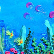 3d Under The Sea Art Print by Ruth Collis