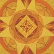 3rd Mandala - Solar Plexus Chakra Art Print