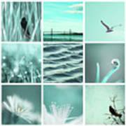 3x3 Aqua Blue Art Print