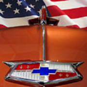 1954 Chevrolet Hood Emblem Art Print