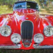 1954 Jaguar Xk 120 Se Ots  Art Print