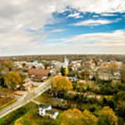 Aerial View Over White Rose City York Soth Carolina Art Print