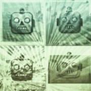 4 Angry Robots Art Print