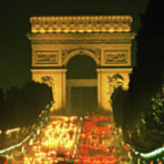 Arc De Triomphe In Paris 2 Art Print