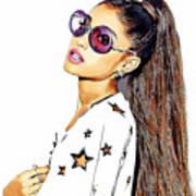 Ariana Grande Art Print