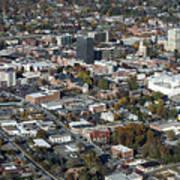 Asheville Aerial Photo Art Print