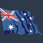 Australia Flag Art Print
