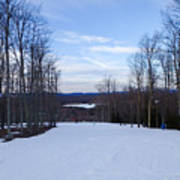Beautiful Winter Landscape At Timberline West Virginia Art Print