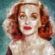 Bette Davis Vintage Hollywood Actress Art Print