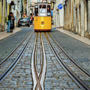 Bica Funicular, Lisbon, Portugal Art Print