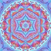 Birth Mandala- Blessing Symbols Art Print