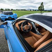 Bugatti Chiron And Vision Gt Art Print