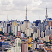 Buildings Of Downtown Sao Paulo Art Print