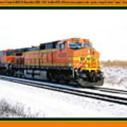Burlington Northern Santa Fe Bnsf - Railimages@aol.com Art Print