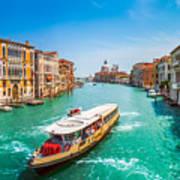 Canal Grande With Basilica Di Santa Maria Della Salute, Venice Art Print