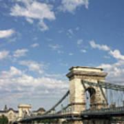 Chain Bridge On Danube River Budapest Art Print