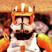 Clone Trooper Commander - Wax Style Art Print