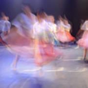 Dancers In Motion  Art Print
