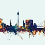 Dusseldorf Germany Skyline Art Print