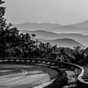 Early Morning Sunrise Over Blue Ridge Mountains Art Print