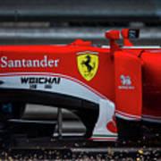 Ferrari Formula 1 Kimi Raikkonen Art Print