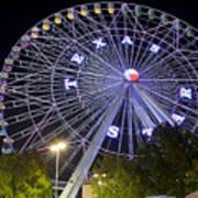 Ferris Wheel At The Texas State Fair In Dallas Tx Art Print