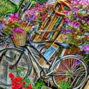 Flower Bike Collection Art Print