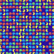 Game Monsters Seamless Generated Pattern Art Print