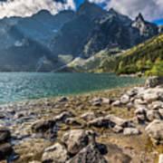 Green Water Mountain Lake Morskie Oko, Tatra Mountains, Poland Art Print
