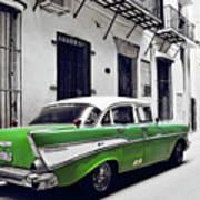 Havana, Cuba - Classic Car Art Print