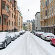 Helsinki At November Art Print