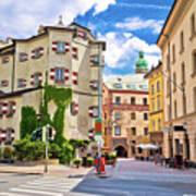 Historic Street Of Innsbruck View Art Print