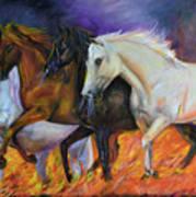 4 Horses Of The Apocalypse Art Print