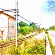 House On The Railway Art Print