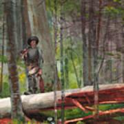 Hunter In The Adirondacks Art Print