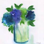 4 Hydrangeas Art Print