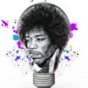 Jimi Hendrix Electric Art Print
