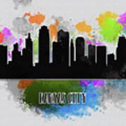 Kansas City Skyline Silhouette Art Print