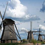 Kinderdijk Windmills Art Print