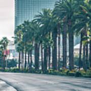 Las Vegas Nevada City Skyline And Vegas Strip At Night Art Print