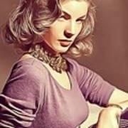 Lauren Bacall, Vintage Actress Art Print