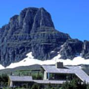 Lodge In Glacier National Park Art Print