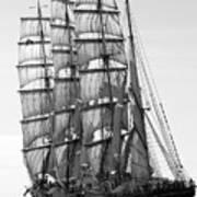 4-masted Schooner Art Print